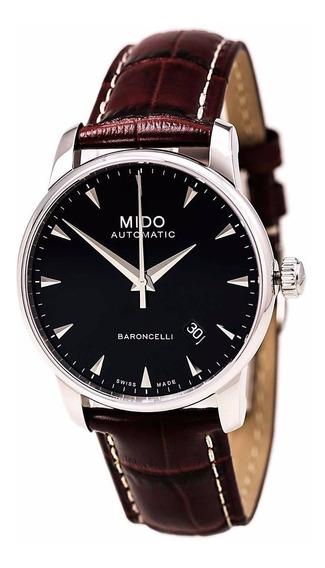 Reloj Mido Baroncelli Automático Piel Café M86004188