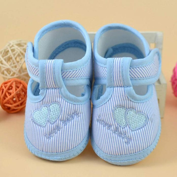 Sandália Azul Neném Tênis Bebê Recém Nascido Mais Vendido Ml