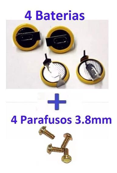 4 Baterias Cr2032 Cartucho Snes C Pinos + 4 Parafusos 3.8mm