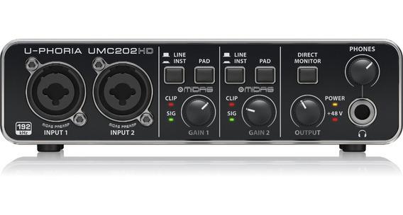 Interface De Áudio Usb Behringer Umc202hd Umc 202 U-phoria