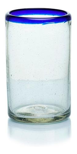 Imagen 1 de 2 de Vaso Posta Cobalto Artesanal Vidrio Soplado 6 Pack