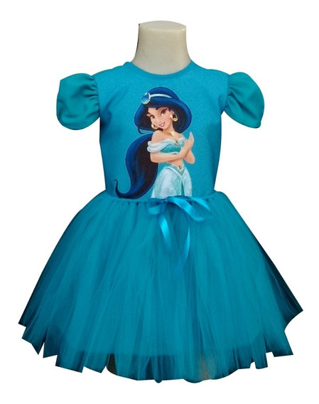 Vestido Infantil Jasmine Fantasia Jasmine Bailarina