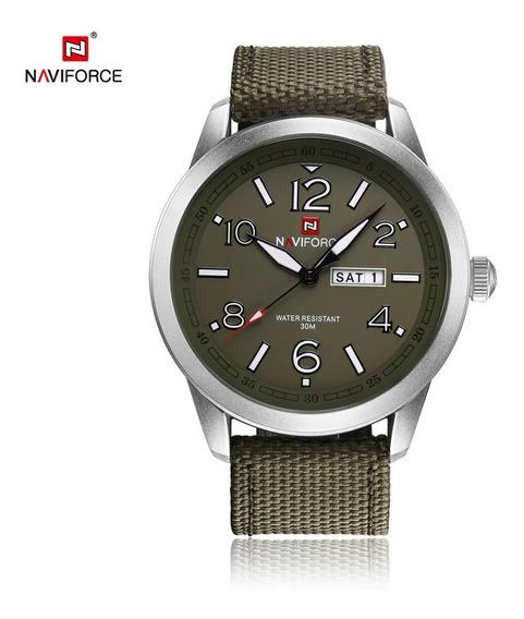 Relógio Pulso Naviforce Masculino Camuflado Ou Verde Militar