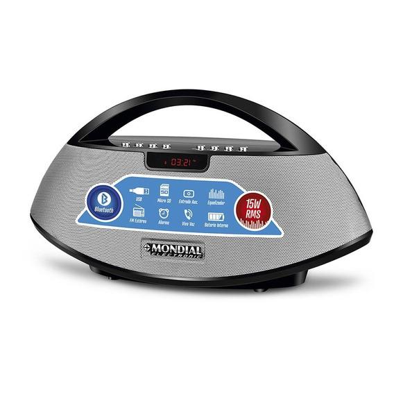 Rádio Portátil Mondial Bluetooth 15w Sk-01 Preto - Bivolt