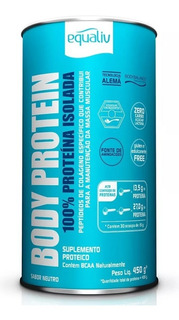 Body Protein Equaliv Iso Peptídeos Colágeno, Bcaa 450g, Full