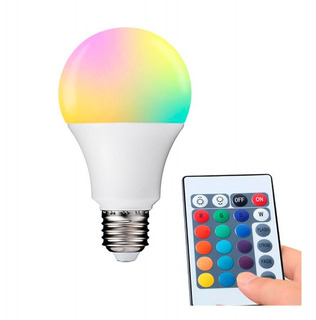 Lampara Led Rgb 12w E27 Control Remoto 16 Colores Oferta