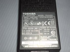 Fonte Carregador Notebook Toshiba Pa2440u 15v=2a Original