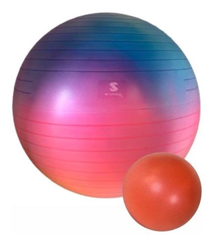 Kit C/2 Bolas De Pilates - Premium Tie Dye - 60cm + Softball