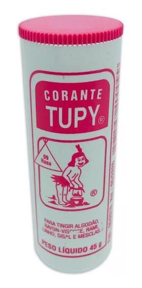 Corante De Roupas Tinta Rosa Tupy 12 Peças