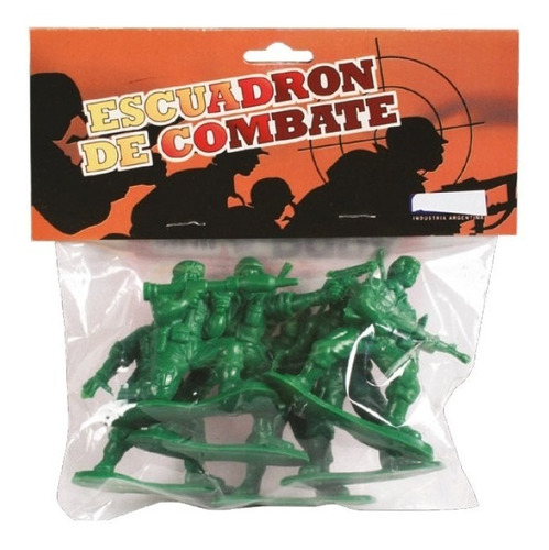 Soldados Escuadrón De Combate Bolsa X 6 Unidades