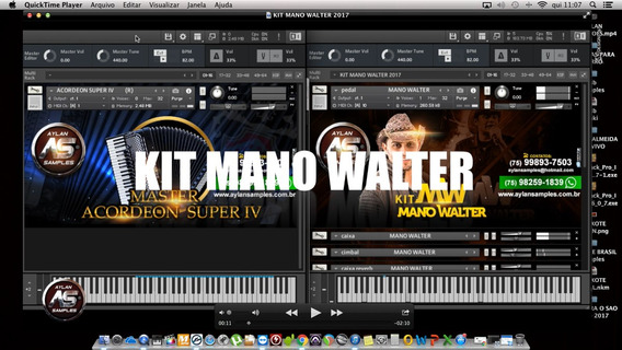 Kit Mano Walter 2017 Para Kontakt Aylan Samples