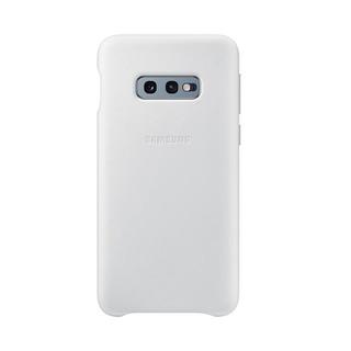 Capa Protetora De Couro Samsung S10e Branca