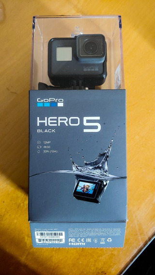 Gopro 5 Black - Caixa + Manual + Cartão Microsd 64gb Extreme