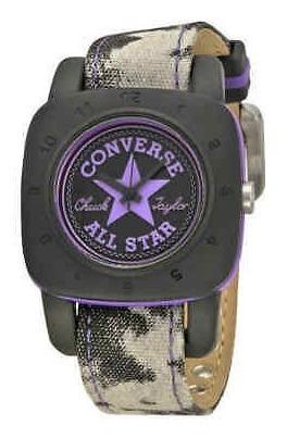 Converse Premium Black Dial Unisex De Lona Púrpura Reloj V