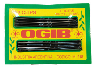 Clip Ogib Corto Negro X 12 Unidades
