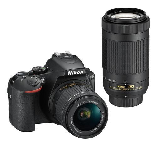 Nikon D5600 18-55mm VR + 70-300mm ED Kit DSLR color negro