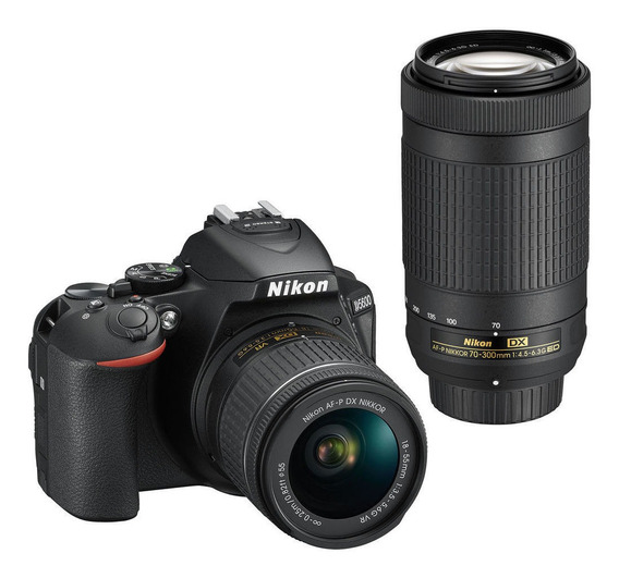 Nikon D5600 18-55mm VR + 70-300mm ED Kit DSLR color negro