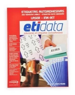 Etiquetas Auto Adhesivas Etidata T/carta 25 H (8713)