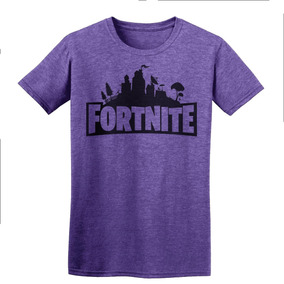Playera Fortnite Battle Royale Logo Fortnite Morada Gamer