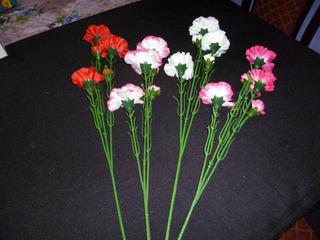 ** 14 Varas Flores Clavel Decoración Oficina Casa Jardín **