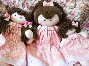 Bonecas De Pano Trio ( P, M, G ) Personalizada