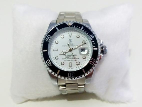Relógio Submariner Silver E White 45mm.