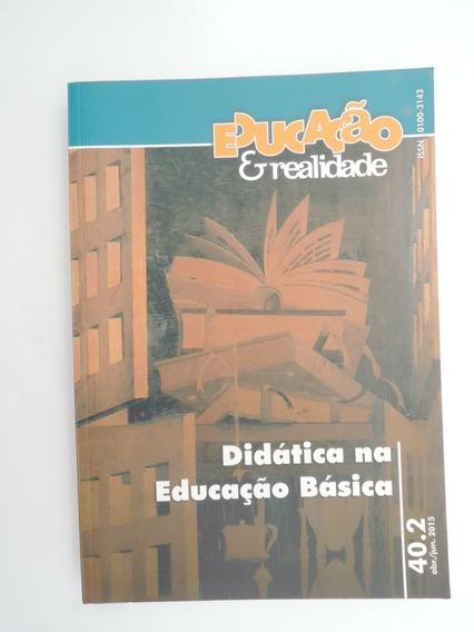 Didática Na Educação Básica Junho 2015 Periódico Ufrgs