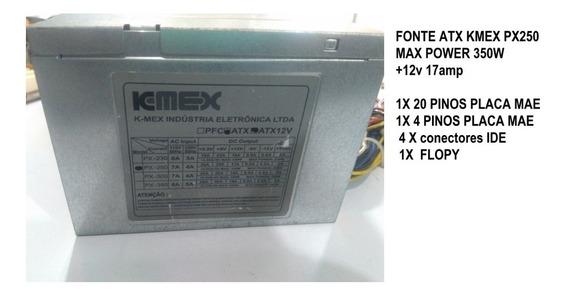 Fonte Atx Kmex Px250 Max Power 350w