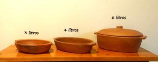Fuente De Barro Ovalada 3 Litros S/esmalte Para Horno