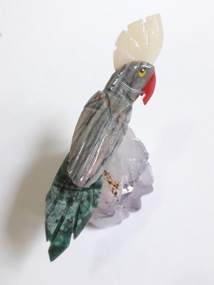 Denizegemas Lindo Pássaro Esculpido Em Pedras Naturais 130,0