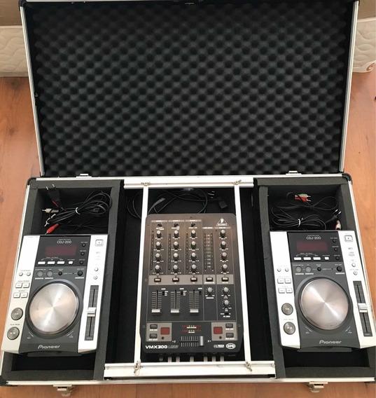 Cdj 200 Pioneer + Mixer Behringer Vmx 300 + Case