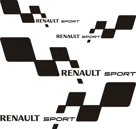 Kit Renault Sport Chico Incluye 4 Calcos Graficastuning
