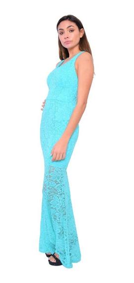 Vestido Fiesta Encaje Sirena Modelo Daisy Brishka V-0112