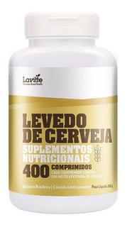 Kit 5 Levedo Levedura De Cerveja 400 Comp Cada 500mg Lavitt