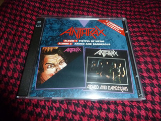Anthrax Fistful Of Metal Y Armed And Dangerous Cd Doble