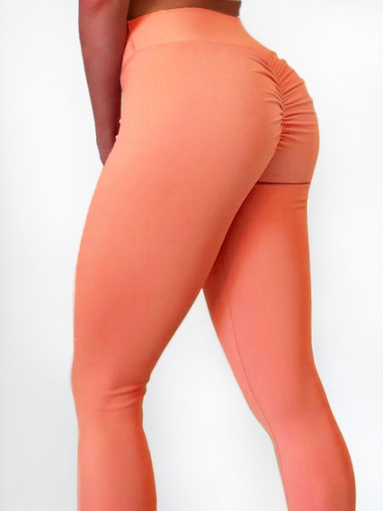 Calzas Levanta Cola Algodon Push Up Fruncidas Legging