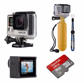 Gopro Hero 4 Silver + Sd 8gb + Floater +kit 2 Baterias Extra