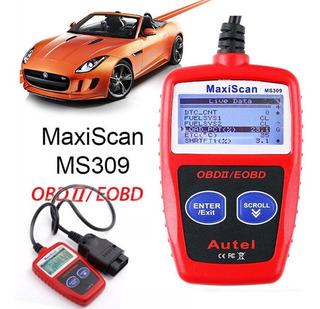 Scanner Automotriz Ms309 Obd2 Multimarcas Obdii/eobd