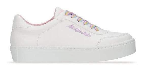 Zapato Sneaker Aeropostale Mujer Urbano Blanco 2669106