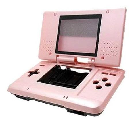 Carcasa Completa Retro Respuesto Nintendo Ds Rosa