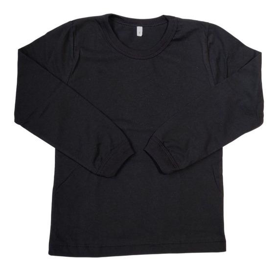 Camiseta Manga Longa Infantil Com Punho 239
