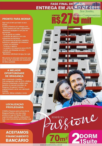 Imagem 1 de 5 de Apartamentos À Venda  Em Bragança Paulista/sp - Compre O Seu Apartamentos Aqui! - 1267520
