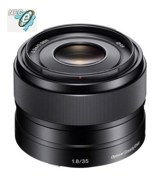 Lente Sony E 35mm F/1.8 Oss E-mount Sel35f18 Nota Fiscal