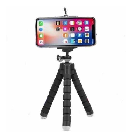 Mini Tripe Celular Camera Mesa Mao Suporta 1kg Adaptador Nf