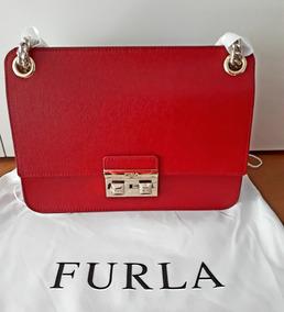 Bolsa Italiana Couro Furla - Original E Importada