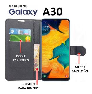 Funda Billetera Full Cover Samsung Galaxy A30 Rosario