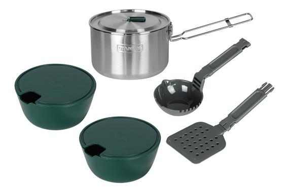 Kit Cozinha Térmico Acampamento Stanley 5 Peças 1.5 Litros