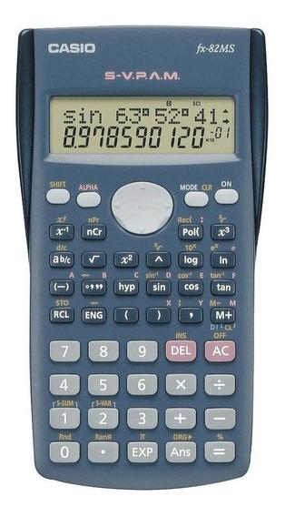 Calculadora Científica 10+2 Dígitos Cinza Fx-82ms Casio Pro