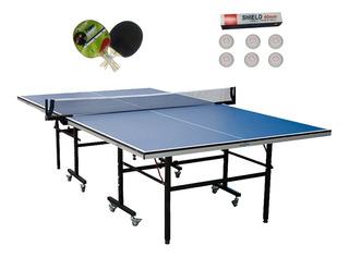 Mesa Ping Pong 16mm Sportfitness Profesional Raquetas Bolas