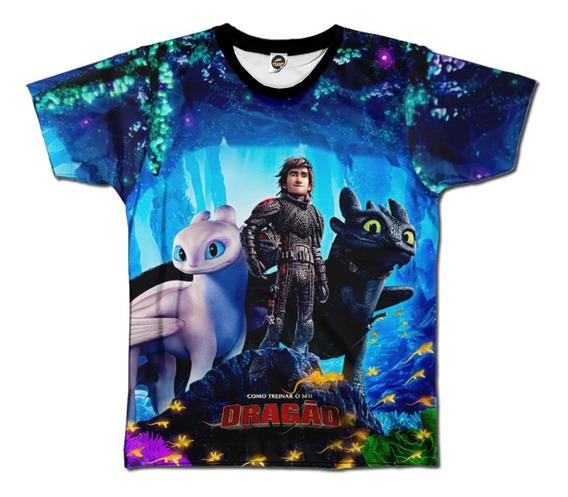 Camiseta Masculina Como Treinar Seu Dragão Infantil